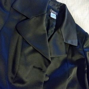 Kenneth Cole NWOT Black Satin Trench Coat